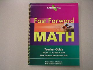 Fast Forward Math Teacher Guide Volume 1 California Harcourt ISBN