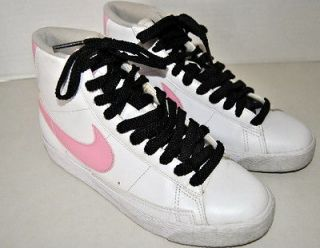 Girls NIKE Hi Tops Sneakers Shoes Size US 5, EU 37.5 Pink White