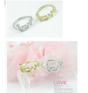 Hot Fashion Gold LOVE Letter Rings Exquisite Alloy Fashion Rings