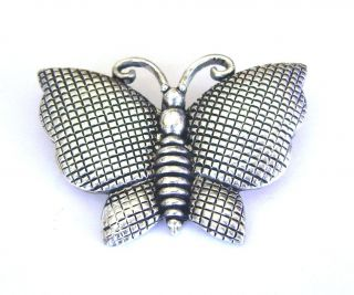 New Brooch Silver Plated Butterfly Pin Vintage Mothers Day Gift Free
