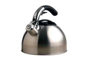 Primula Soft Grip Stainless Steel 3 Quart Tea Kettle with Silicone