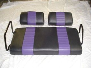YAMAHA Golf Cart Seat Covers   black with havasu pleats