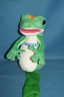 20 Large GEICO Golf Club Cover / Hand Puppet   Gecko Plush Lizard