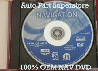DODGE CHRYSLER JEEP REC NAVIGATION UPDATE MAP DISC GPS DVD CD AC