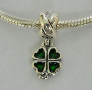 Newly listed Authentic Pandora Green Four Leaf Clover Charm