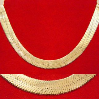 gold herringbone necklace in Jewelry & Watches