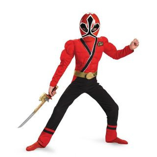 Power Rangers Red Samurai Muscle Child Costume Size 4 6 Disguise