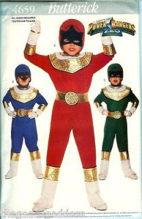 Sabans Power Ranger ZEO Child Butterick 4659 Costume Pattern Red Blue