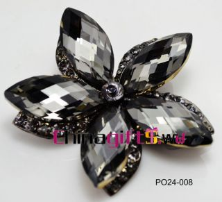 Elegant rhinestone flower brooch wedding Jewelry optional styles