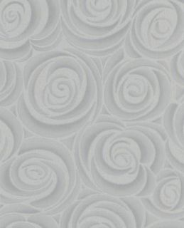 Graham and Brown Hermitage Collection Bella Grey and Silver Wallpaper