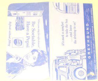 Greyhound Bus Ticket 1959 Folder   Nice Graphics SEE