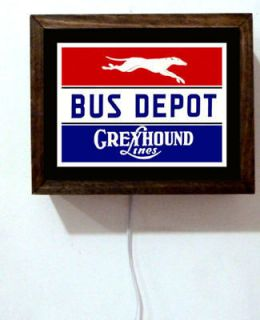 Greyhound Bus Depot Travel Lines Driver Retro Vintage Look Light