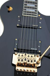 GUITAR FISHBONE LES PAUL CUSTOM with TREMOLO BLACK