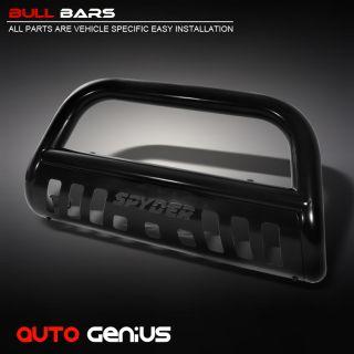 3500 BULL BAR PUSH GRILLE GUARD w/SKID PLATE IN BLACK (Fits Ram 2500