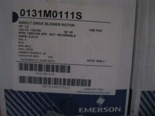 NEW Emerson Direct Drive Blower Motor Variable Speed 031M011S 1/2 HP