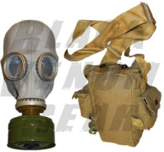 XL Soviet Military Surplus Extreme Disaster Gas Mask + Military Bag