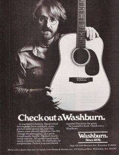 1978 Vintage Ad feat. Washburn Guitars