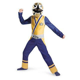 Boys Gold Ranger Samurai Halloween Ninja Costume