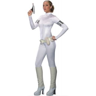 Amidala Star Wars Adult Womens Sexy White Jumpsuit Halloween Costume