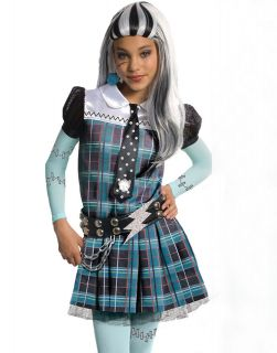 High Deluxe Frankie Stein Teen Girls Kids Halloween Costume Outfit S L