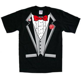 TUXEDO T SHIRT BLACK BACHELOR PARTY WEDDING PROM