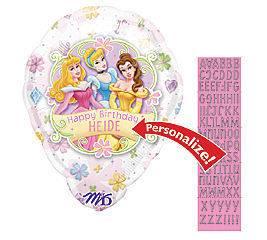 Disney Princess 18 Personalize Happy Birthday Mylar Foil Balloon