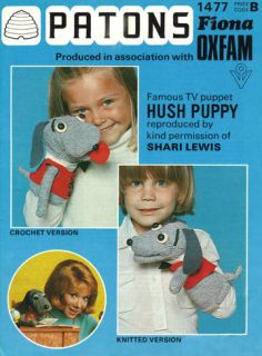 Knitting or crochet Pattern TOY Hush Puppy Dog Puppet