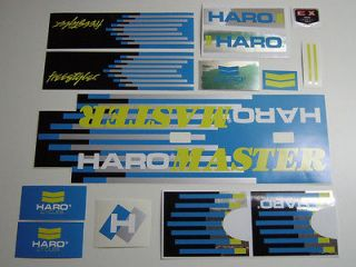 VINTAGE BMX HARO MASTER 1987 decals stickers set