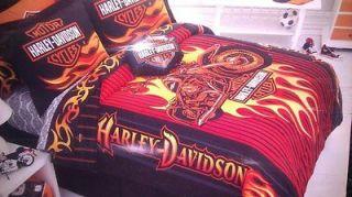 HARLEY DAVIDSON BEDROOM BATHROOM COMBO DEAL 11PCS COMFORTER SHEETS PC