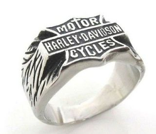 Harley Davidson Ring, Size 11, Good Condition Stainless Steel Motor