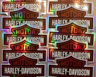 Lot of 10 Harley Davidson stickers, 2009 Harley Davidson licensed