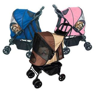 Happy Trails easy folding large Stroller pet tote dogs cats carrier to
