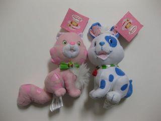 RE ** Strawberry Shortcake Custard Cat & Pupcake Dog 6.5 Plush