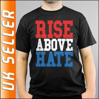 WWE John Cena Rise Above Hate Black T shirt Adults and Children Sizes