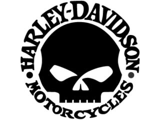 HARLEY DAVIDSON WILLY G SKULL   Motorcycle LARGE VINYL Sticker/Decal