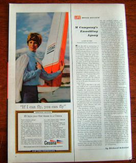 1968 Cessna 150 Airplane Ad I Fly You Fly Lady