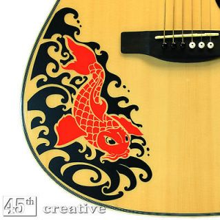 Acoustic Guitar Graphic decal   fits Full Size Dreadnought guitar body