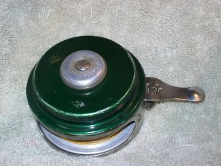 SHAKESPEARE OK AUTOMATIC FLY FISHING REEL,NO.1822,WORKS,MADE IN USA