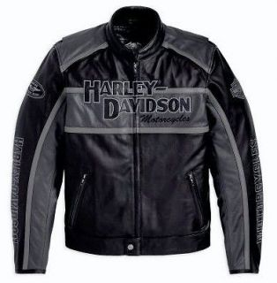 harley davidson leather jacket in Clothing,