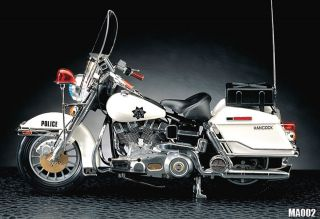 HARLEY DAVIDSON POLICE Classic Motorcycle Motor Bike Academy 1/10