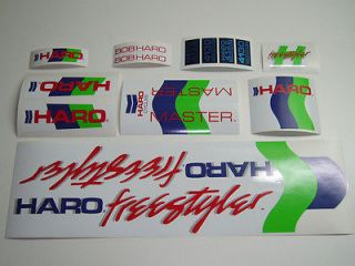 VINTAGE BMX HARO MASTER WHITE 1985 decals stickers set