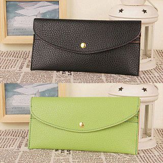 Concise Style Womens Envelope Purse Clutch Hand Bag Wrist Wallet