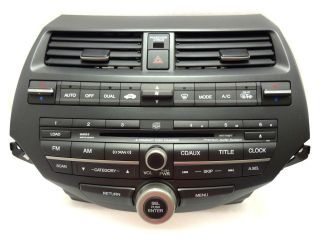 HONDA Accord Radio Stereo 6 Disc Changer CD Player XM Premium Sound