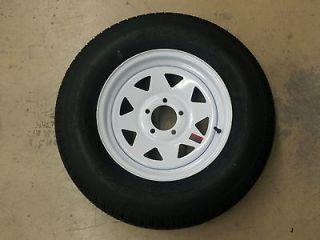 ST 175/80D13 B78 13 Trailer Tires Bias Ply White Spoke Wheels Rims 13