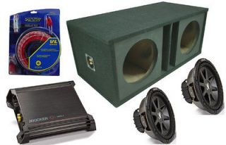 CAR AUDIO 15 4 OHM TWO CVR15 CUSTOM VENTED SUBWOOFER BOX DX1000.1 AMP
