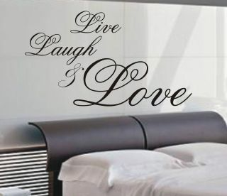 Laugh & Love wall art sticker quote   4 sizes   Bedroom wall stickers