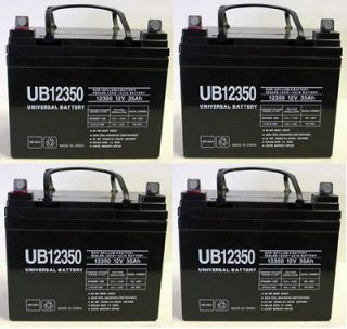 UPG 4 Pack   12V 35AH Group U1 Deep Cycle Sealed Battery