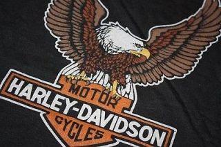 XS * NOS vtg 80s HARLEY DAVIDSON eagle t shirt * biker motorcycle