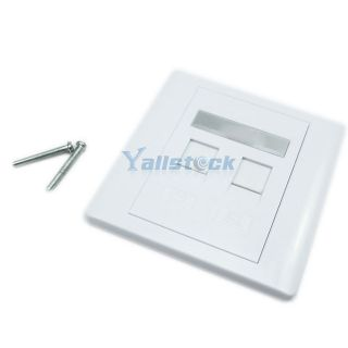 Newly listed New White High Quality AMP Network RJ45 Wall Faceplate