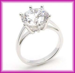 Carats~~~Size 8~~~18K GP White Gold Plated CZ Wedding Ring